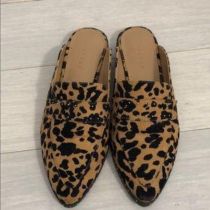 Topshop leopard mules size 37